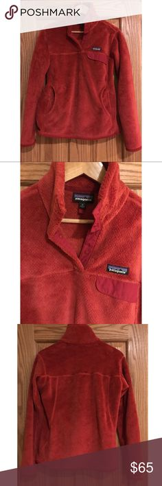 Red Patagonia pullover fleece Red Patagonia pullover fleece- women's size medium Patagonia Jackets & Coats