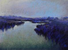 """8 x 10 pastel on wallis, study for """"Night Falls"""", by Beth Williams"""