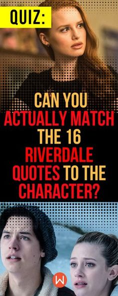 Test your knowledge of the tv series 'riverdale,' based on archie comics, with this fun trivia quiz. Vampire Quiz, Vampire Diaries Quiz, Riverdale Quiz, Riverdale Quotes, One Tree Hill Quiz, The 100 Quiz, Aesthetic Quiz, Baby Quiz, Buzzfeed