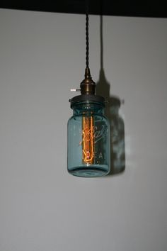 Just Custom Lighting - Listings View Ball Jar Pendant Light Hanging Pendant Ideal Canning Jar Vintage Style Cloth Cord Edison Bulb Included. Small Lamp Shades, Jar Pendant Light, Hanging Pendants, Rustic Lamp Shades, Glass Floor Lamp Shade, Diy Shades, Floor Lamp Shades, Hanging Lights, Diy Lamp Shade