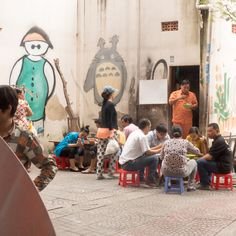 Saigon Strassensafe Vietnam, Painting, Art, December, Pictures, Art Background, Painting Art, Kunst, Paintings