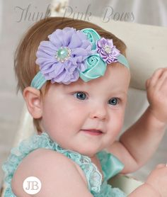 Baby headband, baby headbands, girls headband,newborn headband,shabby chic headband, couture baby headband,flower headband, Easter Headband
