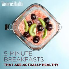 Forget cereal. Try one of THESE creative breakfast ideas to fuel up in a flash: http://www.womenshealthmag.com/nutrition/quick-breakfast-ideas?cm_mmc=Pinterest-_-womenshealth-_-content-food-_-5minbreakfast