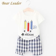 99a5d389b0a Bear Leader Boys Clothing Sets 2017 Summer Fashion Style Kids Clothing Sets  Letter Cartoon T shirt+Short Pants for Boys Clothes-in Clothing Sets from  Mother ...