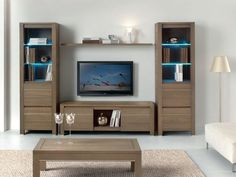 Mueble modular de pared con soporte para tv VOGUE By Domus Arte – Anime pictures to hairstyles Tv Furniture, Furniture Design, Living Roon, Tv Cabinet Design, Hall Room, Tv Wall Decor, Muebles Living, Ikea Pax, Interior Accessories