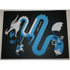 Jack White Jackson Tour Poster Tom Whalen Signed & Numbered 2012 $149.99