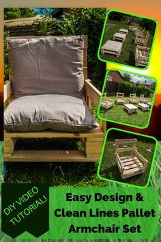 Fauteuil a roulettes de type industriel  #Chair, #Fauteuil, #Garden, #Outdoors, #Palettes, #PalletArmchair, #PalletArmchairSet, #PalletChair, #PalletCoffeeTable, #Pallets