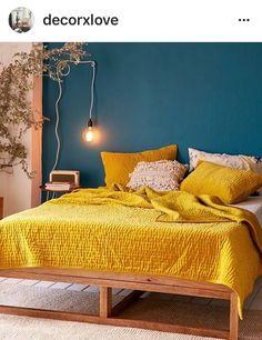 Yellow and Teal Bedroom | #TealBedroom | #YellowBedroom