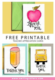 Free Printable teacher appreciation cards that you can download and gift now! Teacher card, Bus driver car, cards for students @smithakatti