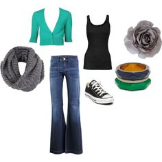 I made this one! :-) I only need the green cardigan and I'm good to go!