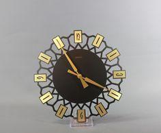 Mid Century Starburst Wall Clock by PRIMUS German by Vinteology