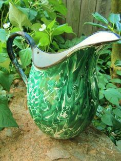 Enamelware pitcher for sale!