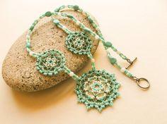 Father Sky Tribal necklace huichol beadwork by GlowingHeartStudios