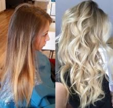 """Charmaine Edwards (@charmededwards) just opened her CharMarie Salon this past September in Christiansburg, VA. She tagged #MODERNSALON on Instagram with this makeover and we just loved! We tracked her down to get more information. """"Client Hannah had her last color sometime in October,"""" says Edwards. """"Her goal was to be a much cooler blonde with more of a sombre than her previous ombre."""" Here she shares the HOW TO:"""