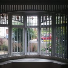 bay window curved vertical blinds by blindology blinds of plymouth