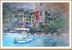 Portovenere - Gianluigi Punzo - Naples - Napoli - Italy - Italia - Watercolor - Acquerello - Aquarelle - Acuarela