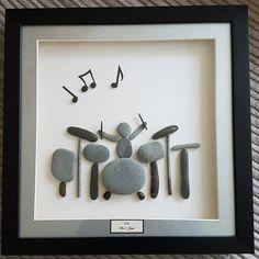 My pebble drummer was a big hit! #pebbleart #pebbles #drums #drumming
