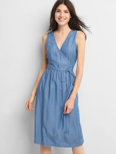 Denim wrap dress, use McCall's 7185