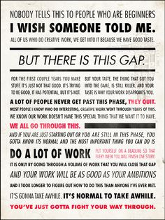 Really great advice for creatives!