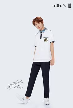 'Elite' school uniforms has released a brand new spring/summer pictorial featuring the sharply dressed boys of NCT 127 and NCT Dream!Both NCT gro… School Boy, Summer School, K Pop, School Uniform Outfits, Boys Uniforms, School Uniforms, Dream School, Cheng Xiao, Huang Renjun
