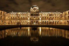 Cour carrée du Louvre *by night*, Paris by Zigar, via Flickr -my favorite place in Paris