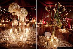 Beautiful wedding reception centerpieces