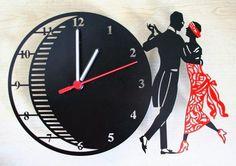 sheet metal - laser cutting - wall clock - vals - night