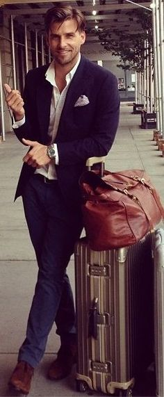 Men's travel style. weekender bag and suitcase | 5 Bags Every Man Should Own www.divinestyle.co