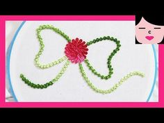 ribbon image hand embroidery with Palestrina stitch - YouTube