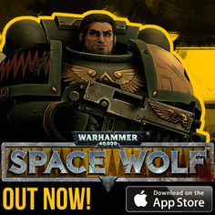 Warhemmer 40,000: Space Wolf is available on the App Store: https://itunes.apple.com/us/app/warhammer-40-000-space-wolf/id840103145 #Warhammer #SpaceWolf #HeroCraft #Game #AppStore