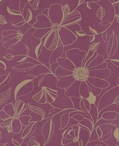 Lynna Aubergine wallpaper