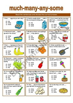 SOME-ANY-MANY-MUCH QUIZ worksheet English Grammar For Kids, English Help, English Primary School, English For Beginners, Teaching English Grammar, English Worksheets For Kids, English Writing Skills, English Classroom, English Language Learning