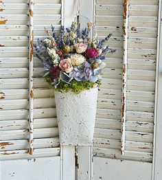 CUSTOM LISTING For Patty Dried Floral Arrangement Flowers Roses Peony Lavender Hydrangea
