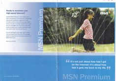 [Agency: Y&R Brands/Irvine] Created and led digital marketing asset creation for Y&R/Irvine on Microsoft account. This piece was the mailer jacket for MSN Premium, a precursor to Outlook and a component of MSN Mail.