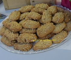 Greek Recipes, Cookie Recipes, Food To Make, Biscuits, Almond, Bakery, Easter, Sweets, Cookies