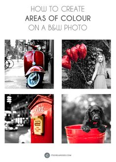 Have you seen those lovely black-and-white photos with just one item in colour?  This is a longer and slightly more involved tutorial than normal this week. It is, however, perfectly attainable for a Photoshop beginner. Just choose an image that has a simple, easy-to-select area. The selection is the hardest part. After that, Photoshop makes it easy for you.  itsorganised.com | Photoshop Tutorial