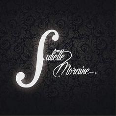 Creation of the logo for Juliette Moraine.   #design #logo #singer #typographie #curve #black&write #visual #graphisme