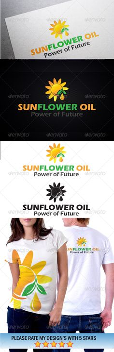 Sunflower Solar Energy  #GraphicRiver         Features :  - File Types: EPS, AI  - Colour Versions: Normal colour  - CMYK 100% Print Ready Vectors  - Editable Colours  - Editable Fonts  Fonts used in the design:     Eras Bold ITC     Note: Need any further assistance or graphic work, don't hesitate to contact me. Please take a moment to rate this item,Thank you!      Created: 23September13