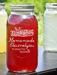 Homemade Electrolyte Drinks to Keep You Hydrated! | BulkHerbStore.com/blog | Learn about staying hydrated with electrolyte drinks, and get some great tasting, natural recipes so you can make your own!