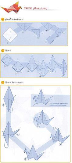 Bruno origami: Origami tsuru que bate asas