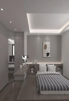 Small Room Design Bedroom, Small House Interior Design, Bedroom Closet Design, Bedroom Furniture Design, Modern Bedroom Design, Home Room Design, Bedroom Interior Design, Modern Luxury Bedroom, Luxurious Bedrooms
