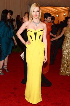 January Jones at the Met Costume Institute Gala 2012