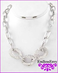 Classic Silver Link Necklace at Endless Envy Jewelry & Clothing Boutique