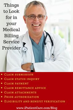 The common transactions which can be handled quickly and efficiently through a Medical Billing Services Provider are:  (1) Claim submission, (2) Claim status inquiry, (3) Claim payment, (4) Claim remittance advice, (5) Claim attachments, (6) Prior authorization, (7) Eligibility and benefits verification.