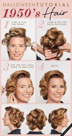 1950's Hair Tutorial #beauty #hairstyle #harido #howto - bellashoot.com