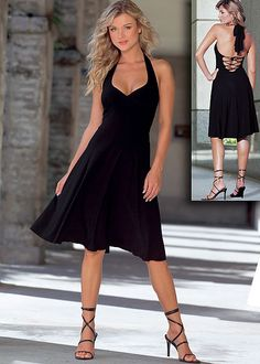 Lace up halter dress in the VENUS Line of Dresses for Women cute! i like this one just because lol