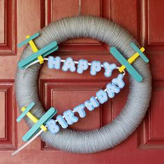 Sammy's birthday wreath with airplanes by laura_libert, via Flickr