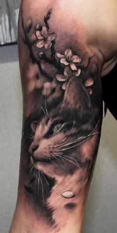 portrait tattoo design Cute cat sleeve tattoo - 100 Examples of Cute Cat Tattoo Cat Portrait Tattoos, Dog Tattoos, Body Art Tattoos, Tattoo Art, Arm Tattoo, Tattoos Tribal, Tattoos Pics, Tattoo Moon, Triangle Tattoos