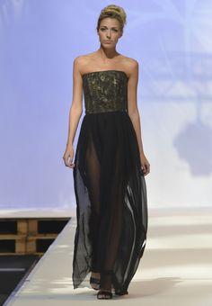 Desfile colección EUMENDIDES SS 2014 Strapless Dress Formal, Formal Dresses, Summer Collection, Spring Summer, Style, Fashion, Dresses For Formal, Swag, Moda