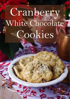 Vegan Cranberry White Chocolate Cookies